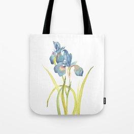 Watercolor flower Iris Siberica Tote Bag