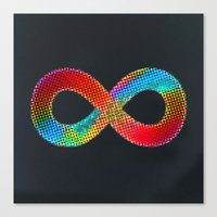 infinite Canvas Prints featuring Infinite by deff