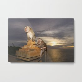 The Temple of the Monkeys Metal Print