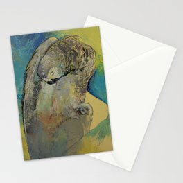 Grey Parrot Stationery Cards