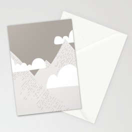 Low Cloud Mountain Scene Stationery Cards