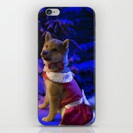 Shiba Inu Chistmas Tree iPhone Skin