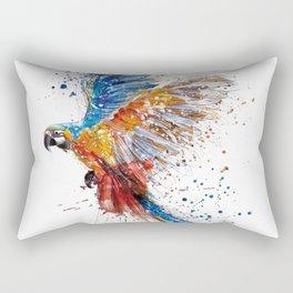 Beautiful Colorful Macaw Rectangular Pillow