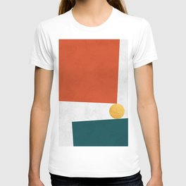 Blue and red art V T-shirt