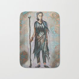 Wandering knight enchantress Bath Mat