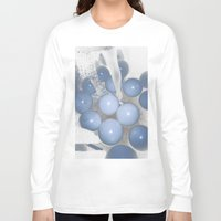 new year Long Sleeve T-shirts featuring NEW YEAR by Pitter Patterns