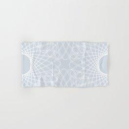 mathematical rotating roses - ice gray Hand & Bath Towel