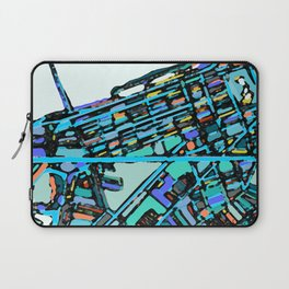 Boston Back Bay Abstract Map Laptop Sleeve