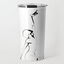 India Ink Dance Drawing Travel Mug