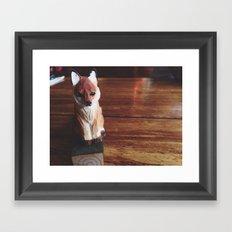 Doorstop Red Fox Framed Art Print
