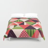 watermelon Duvet Covers featuring watermelon by Gray