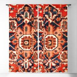 Heriz Serapi Azerbaijan Antique Persian Rug Print Blackout Curtain