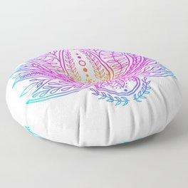 Botanical Lotus - Rainbow Floor Pillow