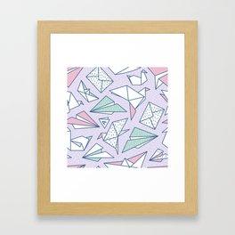 Origami soup Framed Art Print