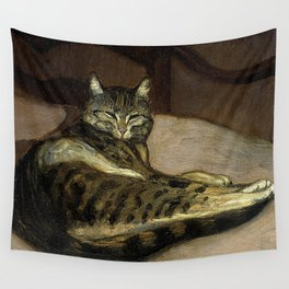 """""""Cat on a Chair"""" by Theophile Steinlen Wall Tapestry"""