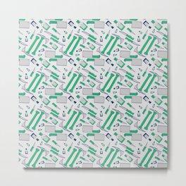 Murder pattern Green Metal Print