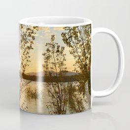"""Sun through the trees"". Spring sunset. Coffee Mug"