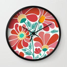 The Happiest Flowers III Wall Clock