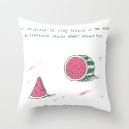 Watermelon Optimism Throw Pillow