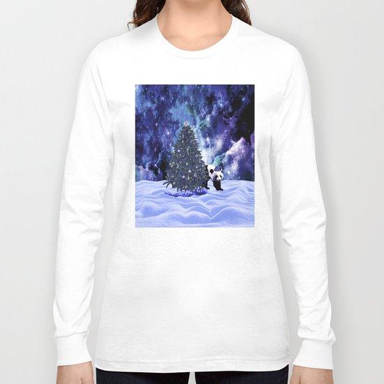 Panda's Christmas Holiday at the North Pole Long Sleeve T-shirt