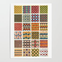 Egyptian Patterns from Vintage Design Book Poster