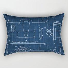 Toy Airplane Blueprint Rectangular Pillow