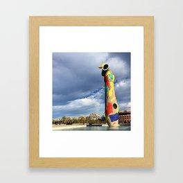 Joan Miró's Woman and Bird Sculpture Framed Art Print