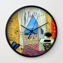 Henri Matisse Interior with a Violin Case Wall Clock