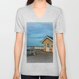 On Penarth Pier Unisex V-Neck