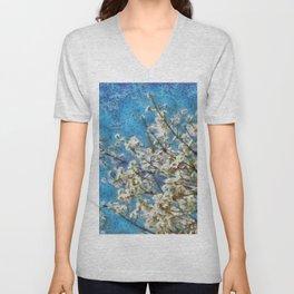 Blossom and Blue Sky In Monet Style Unisex V-Neck