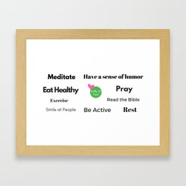 "Daily Intentions ""Jane"" Framed Art Print"
