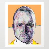 Jesse Pinkman (Beige) Art Print