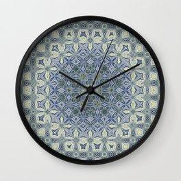 midnight blue butterfly kaleidoskope Wall Clock