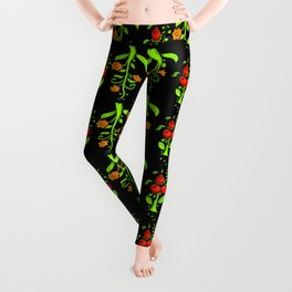 bright trees and fruits Leggings