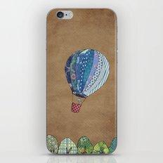 Blue hot air balloon iPhone & iPod Skin