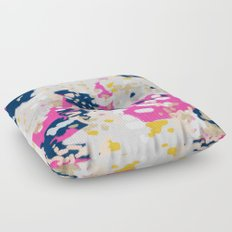 Michel - Abstract, girly, trendy art with pink, navy, blush, mustard for cell phones, dorm decor etc Floor Pillow