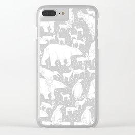 Polar gathering (latte) Clear iPhone Case