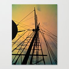 We Sail at Dawn Canvas Print