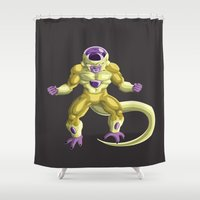 dragonball Shower Curtains featuring Golden Frieza by Amw2491