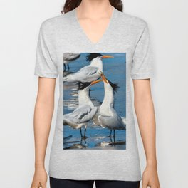 Elegant Mating Dance Unisex V-Neck