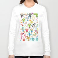 katamari Long Sleeve T-shirts featuring KATAMARI DAMACY by Erin Lowe