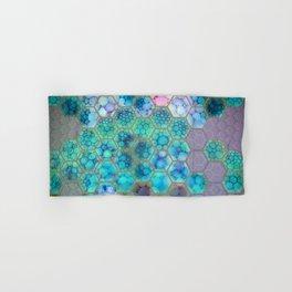 Onion cell hexagons Hand & Bath Towel