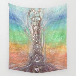 Chakra tree Wall Tapestry