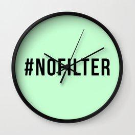 NO FILTER Wall Clock