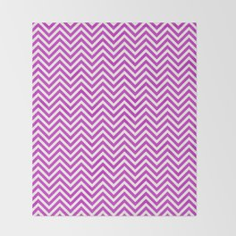 Hot Pink Chevrons Throw Blanket
