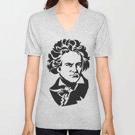 Beethoven Unisex V-Neck