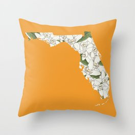 Florida in Flowers Throw Pillow