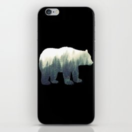 Misty Forest Bear iPhone Skin