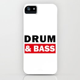 Drum And Bass iPhone Case