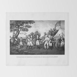 The Surrender of General Burgoyne Throw Blanket